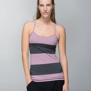 Lululemon Power Y Tank Top Mauvelous Stripe 6